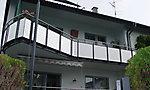 Balkonerweiterung mit Geländer aus Edelstahl, Neuburgweier