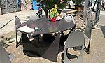 Tisch und Stühle aus Stahlblech Design GH